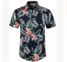 Load image into Gallery viewer, 5 Style men's Hawaiian Beach Shirt Floral Fruit Print Shirts Tops Casual Short Sleeve Summer Holiday Vacation Fashion Plus size