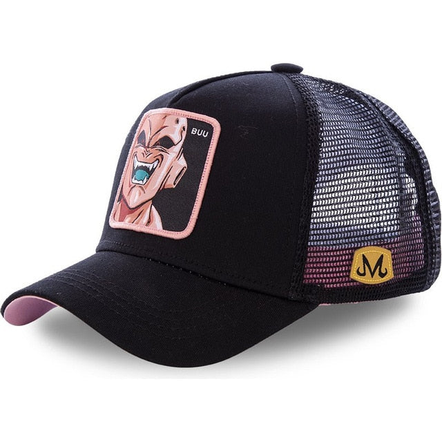 Newest Dragon Ball Mesh Hat 8 New Style Trucker Baseball Cap High Quality Curved Brim Snapback Cap Gorras Casquette Dropshipping