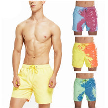 Load image into Gallery viewer, Men Beach Shorts Change Color Beach Pant Quick Dry High Temperature Discoloration Male Running Shorts Summer Swimming Shorts