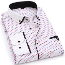 Load image into Gallery viewer, 2020 Men Fashion Casual Long Sleeved Printed shirt Slim Fit Male Social Business Dress Shirt Brand Men Clothing Soft Comfortable