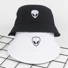 Load image into Gallery viewer, Unisex Embroidery Alien Foldable Bucket Hat Summer Beach Sun Hat Streetwear Fisherman Hat Outdoor Bucket Cap Men Women Hat