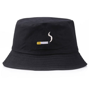 Unisex Embroidery Alien Foldable Bucket Hat Summer Beach Sun Hat Streetwear Fisherman Hat Outdoor Bucket Cap Men Women Hat