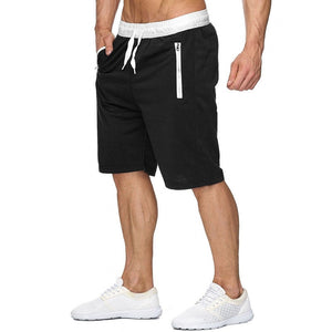 New Fashion Mens zipper Shorts Male Sweatpants Fitness Bodybuilding Workout Men Leisure Shorts masculino 2019 Spring Summer