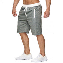 Load image into Gallery viewer, New Fashion Mens zipper Shorts Male Sweatpants Fitness Bodybuilding Workout Men Leisure Shorts masculino 2019 Spring Summer