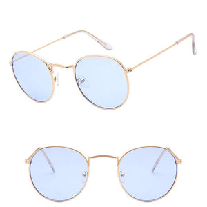 LeonLion 2020 Fashion Retro Sunglasses Men Round Vintage Glasses for Men/Women Luxury Sunglasses Men Small Lunette Soleil Homme