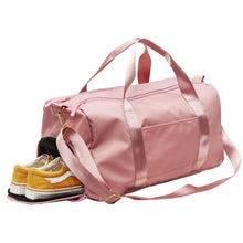 Load image into Gallery viewer, Nylon Travel Sports Gym Shoulder Bag Large Waterproof Nylon Handbags Black Pink Color Women Men Outdoor Sport Bags 2020 New