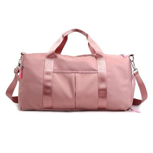 Nylon Travel Sports Gym Shoulder Bag Large Waterproof Nylon Handbags Black Pink Color Women Men Outdoor Sport Bags 2020 New
