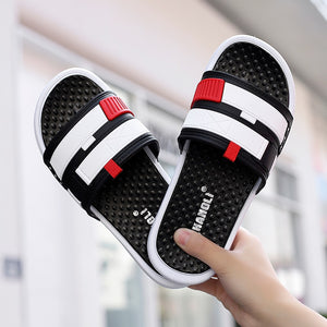 Men's Shoes Soft Massage Slippers Men Plus Size 36-44 Fashion Summer Men Flip Flops Outdoor Beach Sandal For Men multiple colour