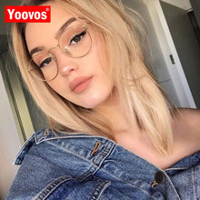 Load image into Gallery viewer, Yoovos 2020 Glasses Frame Women Luxury Round Eyeglasses Frames Vintage Brand Designer Okulary Blue Light Eyewear Gafas De Mujer