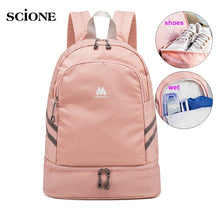 Load image into Gallery viewer, Women Gym Backpack Traveling Bag Fitness Bags for Shoes Training Dry And Wet Sack Gymtas Sac De Sport Mochila Swimming XA874WA