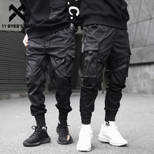 Load image into Gallery viewer, 11 BYBB'S DARK  Men Joggers Pants Multi-pocket Elastic Waist Harem Pants Men Hip Hop Streetwear Sweatpants Pencil Pants Techwear
