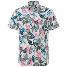 Load image into Gallery viewer, Summer Pure Cotton Mens Hawaiian Shirt Loose Printed Short Sleeve Big Us Size Hawaii Flower Men Beach Floral Shirts