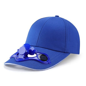 Adult Kid Summer Solar Panel Powered Cooling Fan Baseball Cap Outdoor Sport Camping Hiking Snapback Peaked Sun Visor Hat