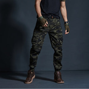 High Quality Khaki Casual Pants Men Military Tactical Joggers Camouflage Cargo Pants Multi-Pocket Fashions Black Army Trousers