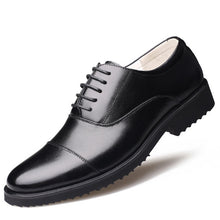 Load image into Gallery viewer, New Fashion Oxford Casual Business Men Shoes Genuine Leather High Quality Soft Breathable Flats Zip Shoes