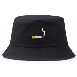 Embroidery Aliens Foldable Bucket Hat Women Men Soild Cotton Fishing Beach Sun Hats Bob Summer Outdoor Fisherman Hip Hop Caps