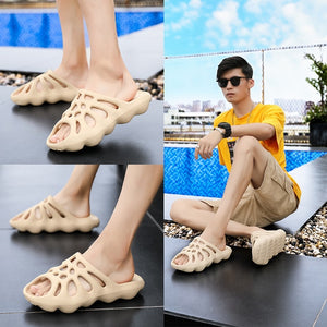Men Sandals Summer Soft bottom Sandals Trend Unisex Slippers Light Beach Shoes Unisex Home Slippers Classic Comfortable Slippers