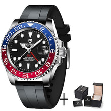 Load image into Gallery viewer, PAGANI DESIGN 2020 Luxury Men Mechanical Wristwatch Stainless Steel GMT Watch Top Brand Sapphire Glass Men Watches reloj hombre