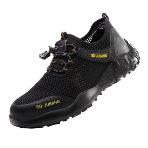 Steel Toe Cap Work Shoes Men Work Safety Boot For Men Anti-Smashing Construction Safety Shoes Indestructible Safety Sneakers