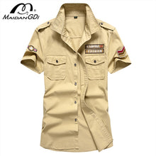 Load image into Gallery viewer, MAIDANGDI Men's Shirt 2020 Summer New  Military Air Force Short-sleeved Large Size Camisa Masculina