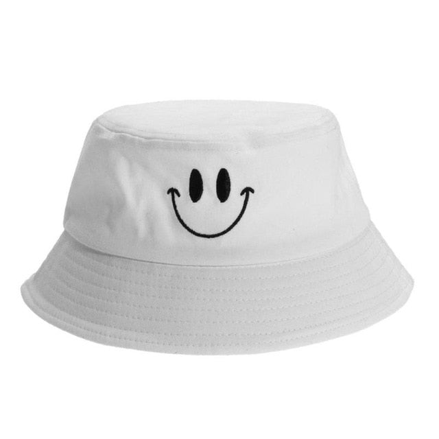 Casual Bucket Hat Fisherman Hunting Hat Smile Face Sunhat Protection Cotton Fisherman Cap Unisex Gorro Pescador Шапка Женская