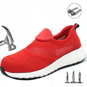 Safety Shoes Brand Summer Lightweight Steel Toecap Unisex Work Safety Boots Breathable Men Women Shoes Plus Size Safety Shoe