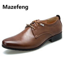 Load image into Gallery viewer, Mazefeng 2019 New High Quality British Style Leather Men Shoes Lace-Up Bullock Business Dress Men Oxfords Shoes Male Formal Shoe