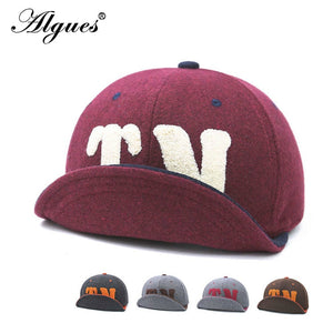 Autumn & Winter Popular Towel Embroidered Lettered TN Baseball Cap Men's Women's Woolen Big Head Around Doubled Soft-brimmed Hat