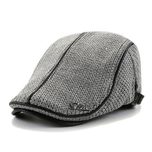Load image into Gallery viewer, BISONJS Knitted Cap Hat Men's Autumn and Winter Thick Warm Beret Casual England Male fashion new hot hats patchwork Polyester