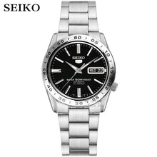 Load image into Gallery viewer, seiko watch men 5 automatic watch top brand luxury Sport men watch set waterproof mechanical military watch relogio masculinoSNK
