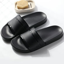 Load image into Gallery viewer, Summer Home Men Slippers Simple Black White Shoes Non-slip Bathroom Slides Flip Flops Couples Indoor Women Platform Slippers