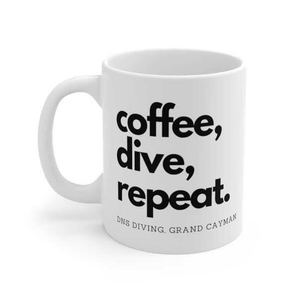 coffee, dive, repeat White Mug 11oz