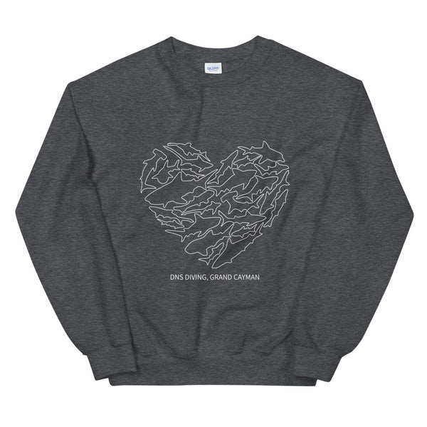 Shark Heart Crew Neck Sweatshirt - Unisex - 5 colors