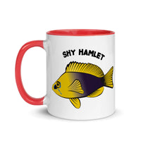 SHY HAMLET Mug with Red Inside 11oz