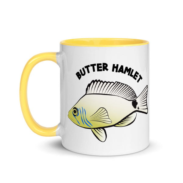 BUTTER HAMLET Mug with Yellow Inside 11oz