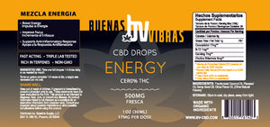 Load image into Gallery viewer, Buenas Vibras Energy Tincture 500mg