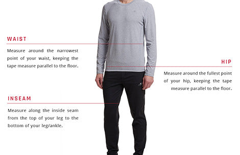 Mens Bottoms Size Guide