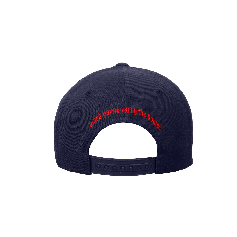 Who's Gonna Carry the Boats Navy Yupoong Classic Snapback Cap