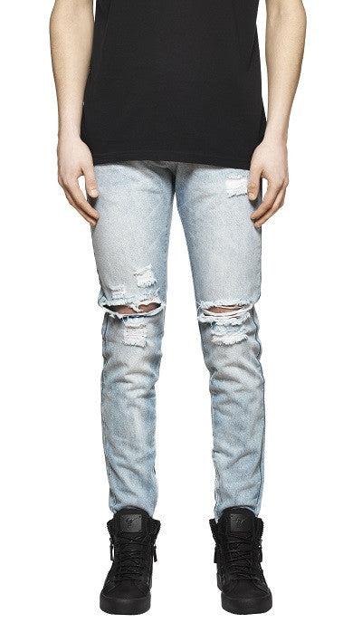 Destroyed Denim - Light Blue