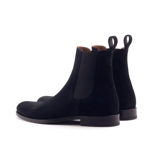 Black Onyx Leather Chelsea Boots