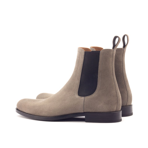 Vintage Taupe Leather Chelsea Boots