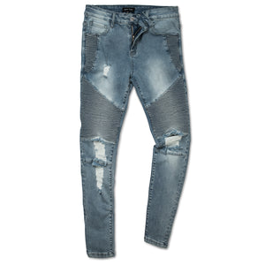 classic distressed biker jeans by Marc Wenn