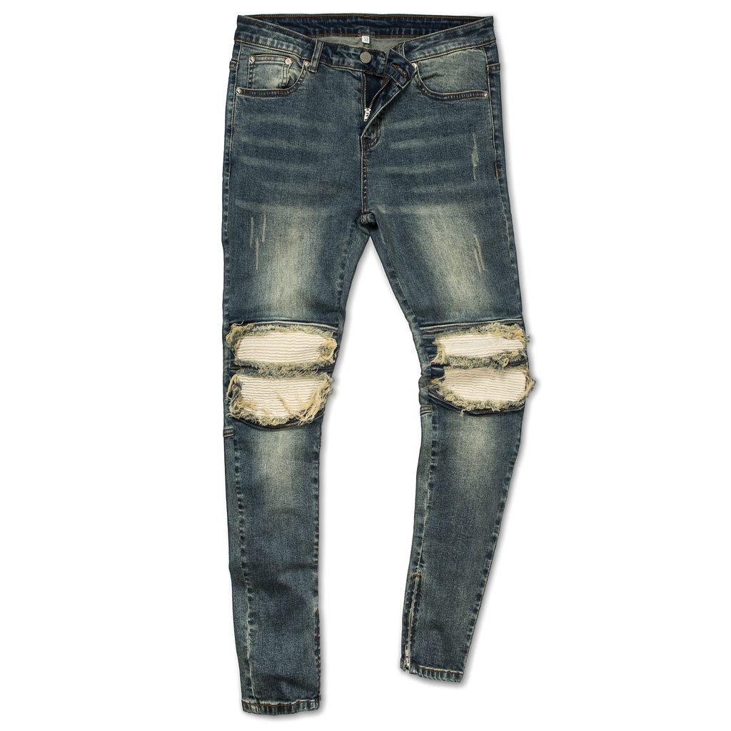 Mad biker denim jeans by Marc Wenn