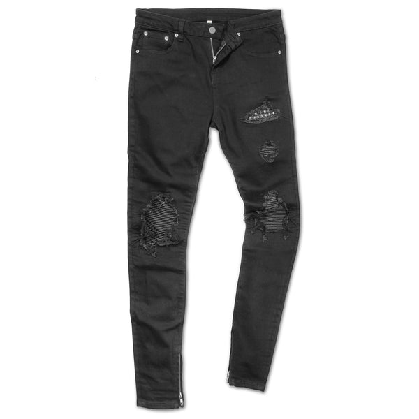 studded biker jeans by Marc Wenn