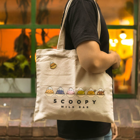 Scoopy Logo Tote Bag