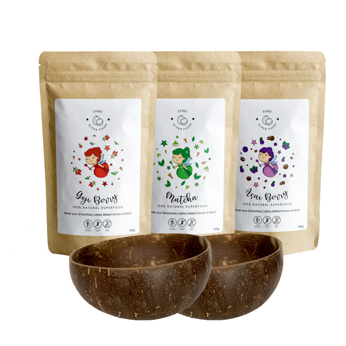 superfoods bundle met coconut bowls