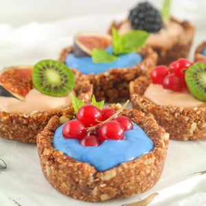 Fairy Superfoods Goji berry and Blue Spirulina Goji berry breakfast tarts (ontbijttaartjes met goji bessen poeder)