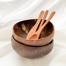Afbeelding in Gallery-weergave laden, coconut bowls with coconut cutlery