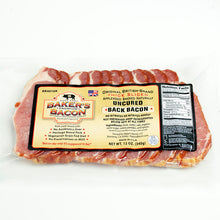 Load image into Gallery viewer, Baker's Bacon uncured bacon thick sliced