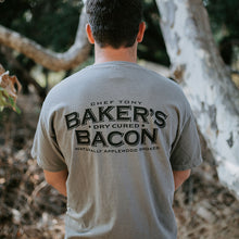 Load image into Gallery viewer, Baker's Bacon merch - Grey T-shirt